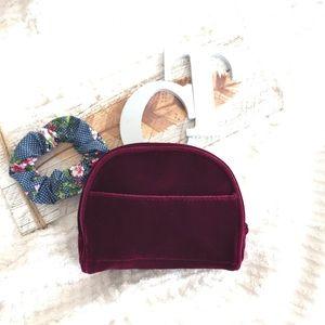 Handbags - NWT Velvet Make-up Cosmetic Bag